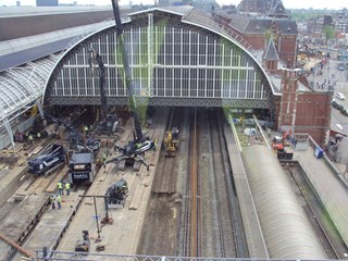 Langzaamverkeerspassage Centraal Station Amsterdam