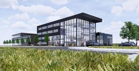 Nieuwbouw Albeda college Rotterdam The Hague Airport